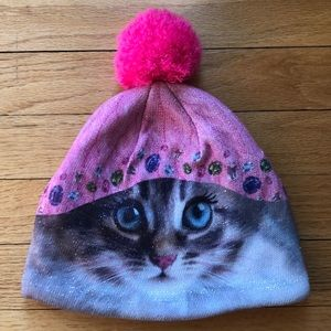 Adorable, like new, Capelli Kids cat hat. Girls OS